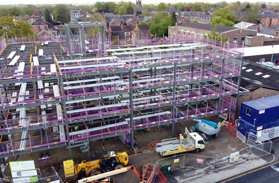 Urmston steel framework